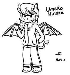 Umeko Hinoka (Original Character) (REDRAW!!) by VioletLinked