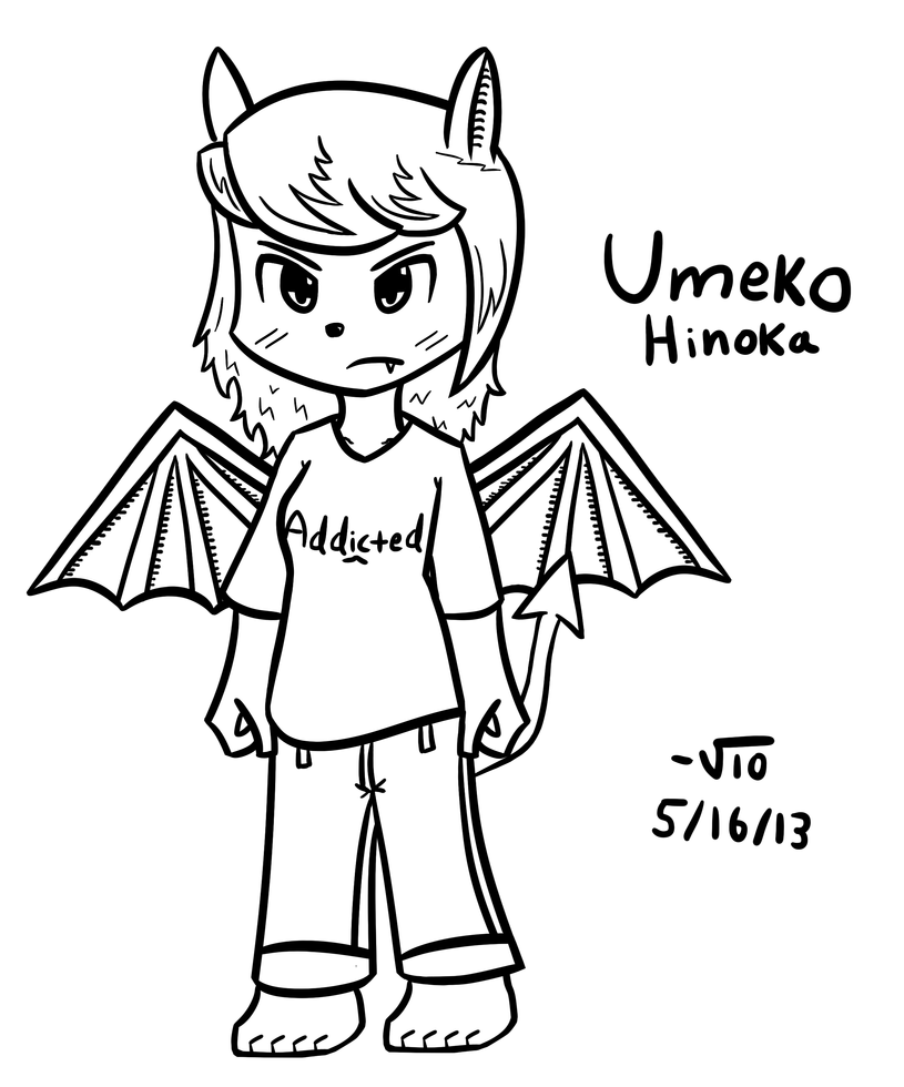 Umeko Hinoka without her jacket. by VioletLinked