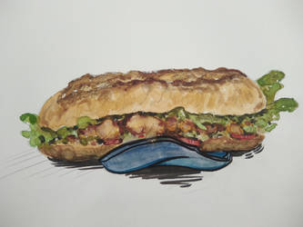 sandwich aquarelle by Cleeo25a7