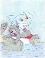 Shark Spank Attack by Krypto451