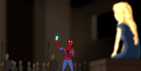 Spidey, presenting Dany with iRaven