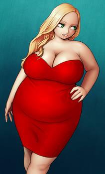 Rockin' the Tight Red Dress