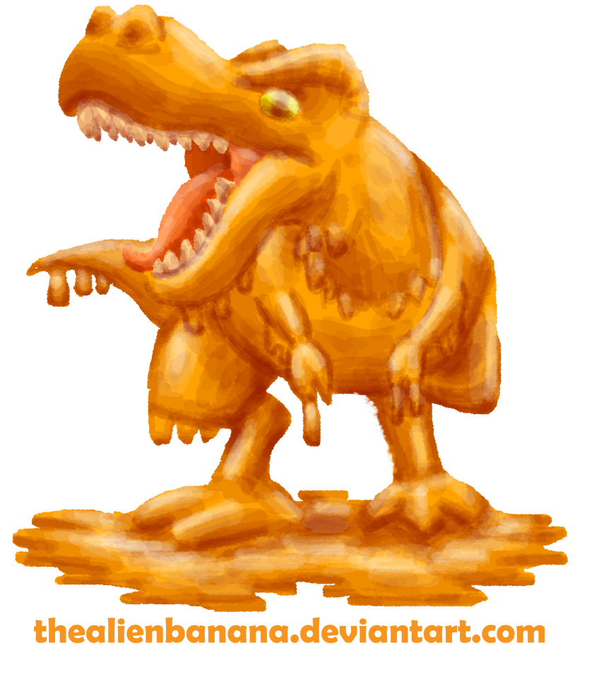 Daily 93- Cheesasaurus Rex Redesign by TheAlienBanana