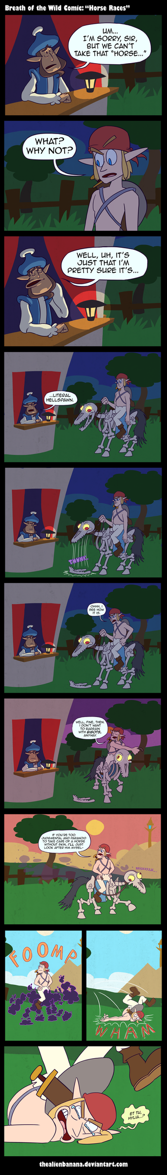 Horse Races (Breath of the Wild Comic) by TheAlienBanana