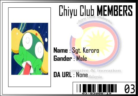 CC ID Sgt. Keroro by Chiyu-Club
