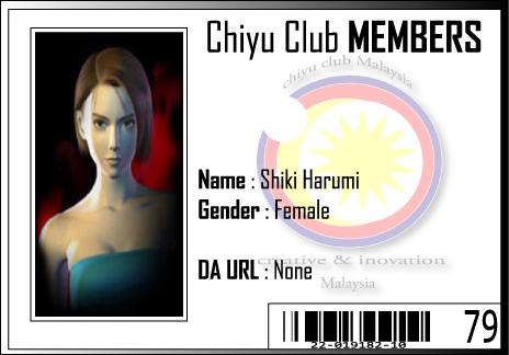 CC ID Shiki Harumi by Chiyu-Club