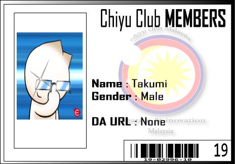 CC ID Takumi by Chiyu-Club