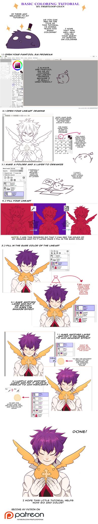 Basic coloring Tutorial by Fruitloop-chan