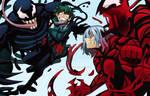 Commission Piece: Venom Deku vs Carnage Shigaraki