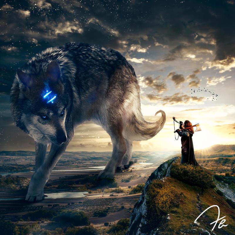 The Return Of The Legendary Wolf by Photoshoppista90