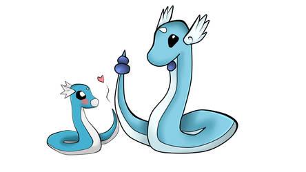 Dratini and Dragonair