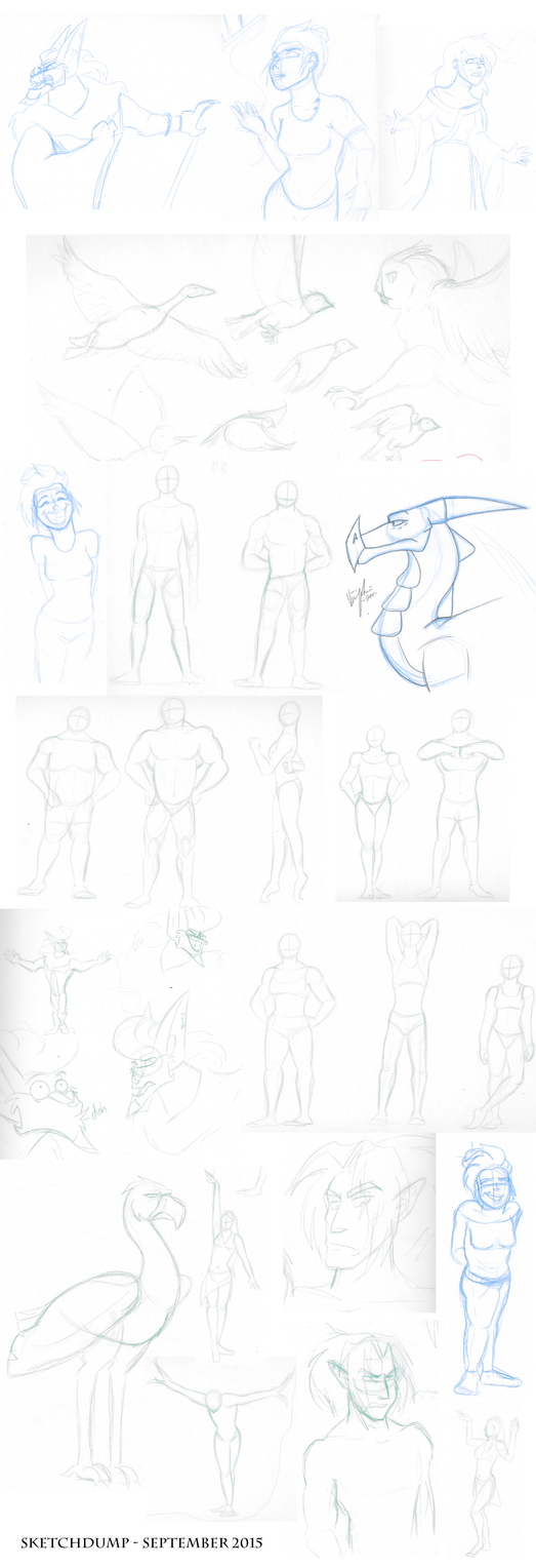 SKETCHDUMP - SEPTEMBER 2015 by Luna1502