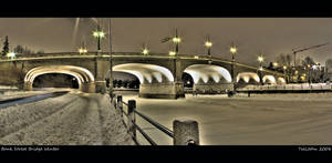 Bank Street Bridge Winter by TallJohn