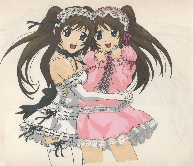 Anime twins by BlackUmbral on DeviantArt