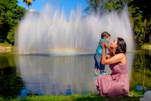 My family and fountain