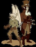 Loup and Nova- Steampunk by Le-RenardRoux