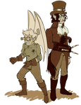 Loup and Nova- Steampunk