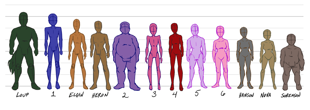 Character Body Types by Le-RenardRoux on DeviantArt