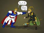 Major Glory VS Loki! by Le-RenardRoux