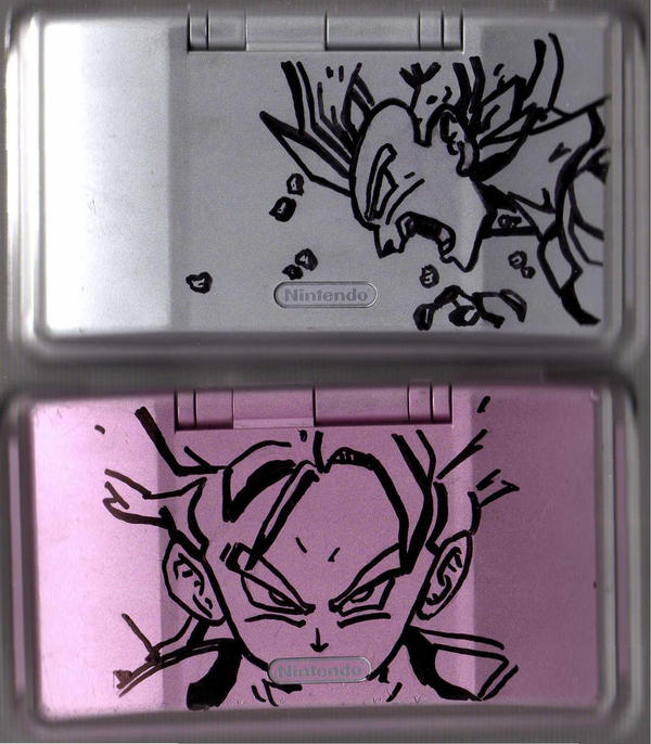 SS Trunks and Vegeta DS's by mitsi