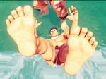 Ryu gyakuryona at the beach