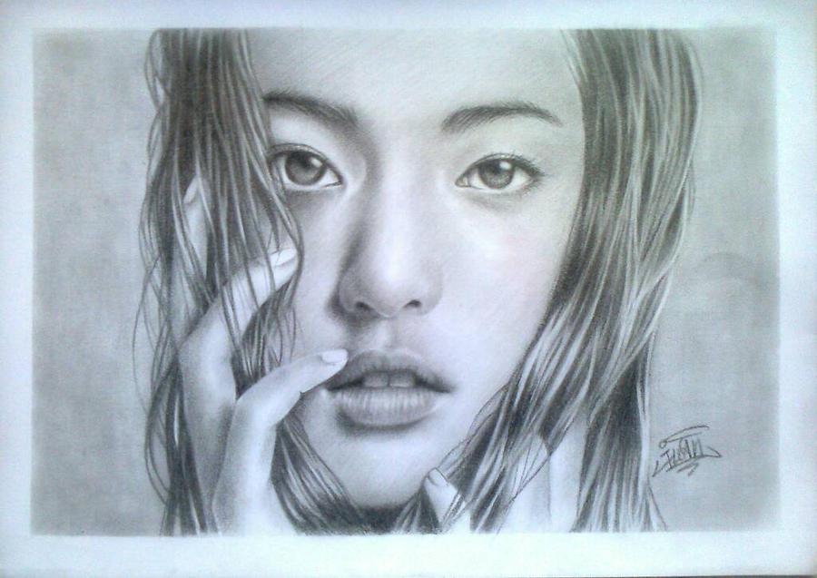 Drawing portait girl by IwanSoekamti