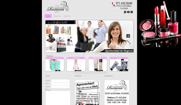 Roxana Consultoria de Belleza Website by VanFanelSama