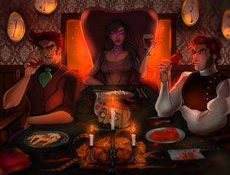 A Questionable Dinner by Mo0gs