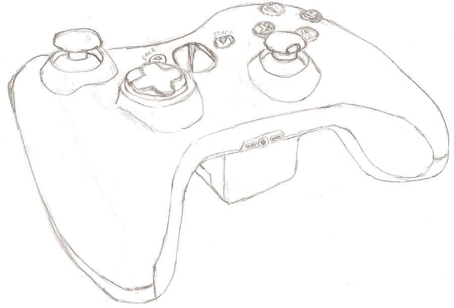 D Line Drawings Xbox : The gallery for gt xbox controller drawing