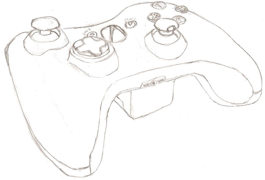 xbox 360 controller sketch - photo #22