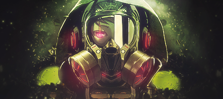 Gas Mask Girl Signature by JROD707
