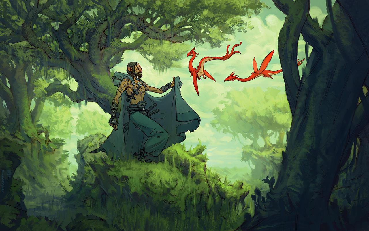 Red Wyverns by tim-mcburnie