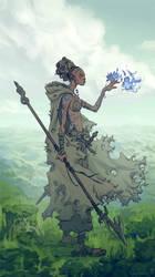 Blue Petals by tim-mcburnie