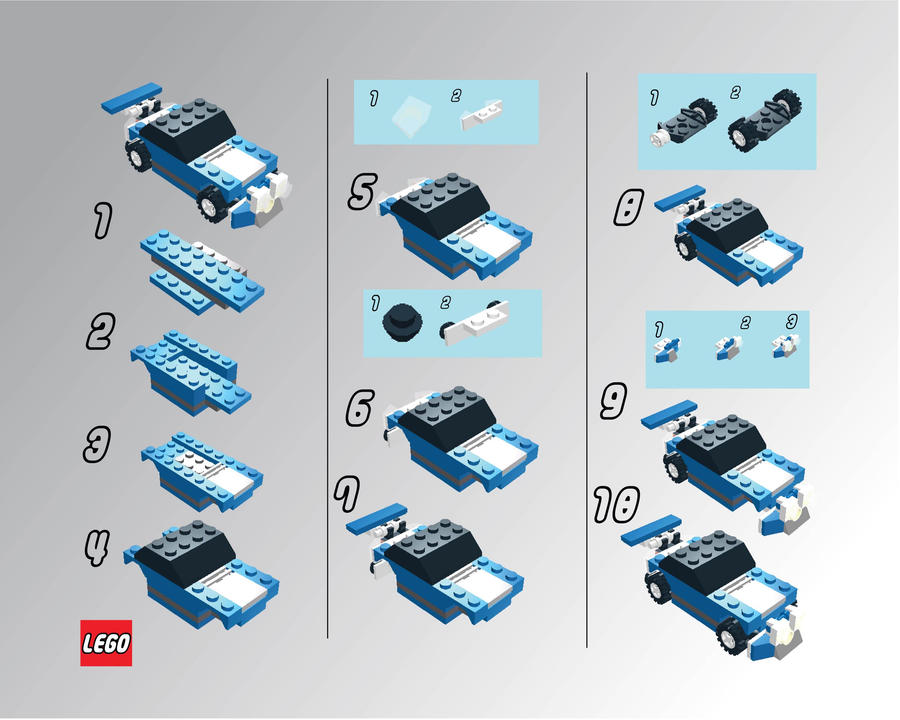 lego race 3000 instructions