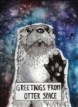 Greetings from Otter Space