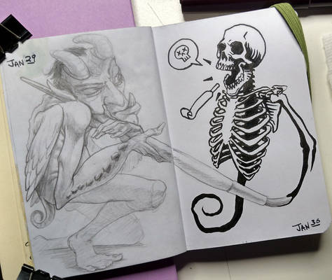 Daily Sketches 4 and 5