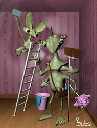 3D Monster-clean-team by Bubsilein