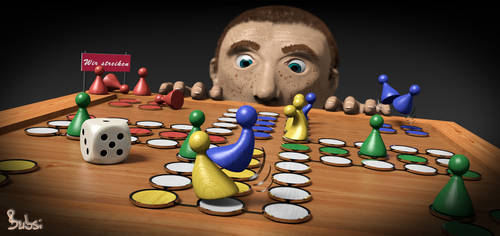 3D gameboard Brettspiel by Bubsilein