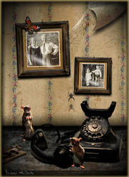 Vintage Telephone by Bubsilein