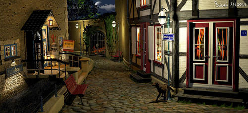 3D alley -- Gasse by Bubsilein