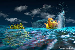 3D goldfish -- Goldfisch