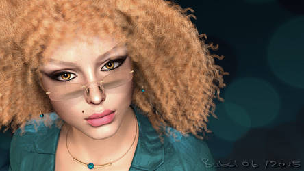 3D portrait Curly