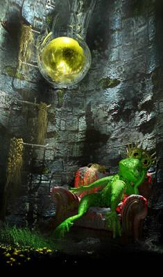 3D frog-prince -- Froschkoenig
