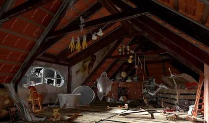 3D attic -- Dachboden