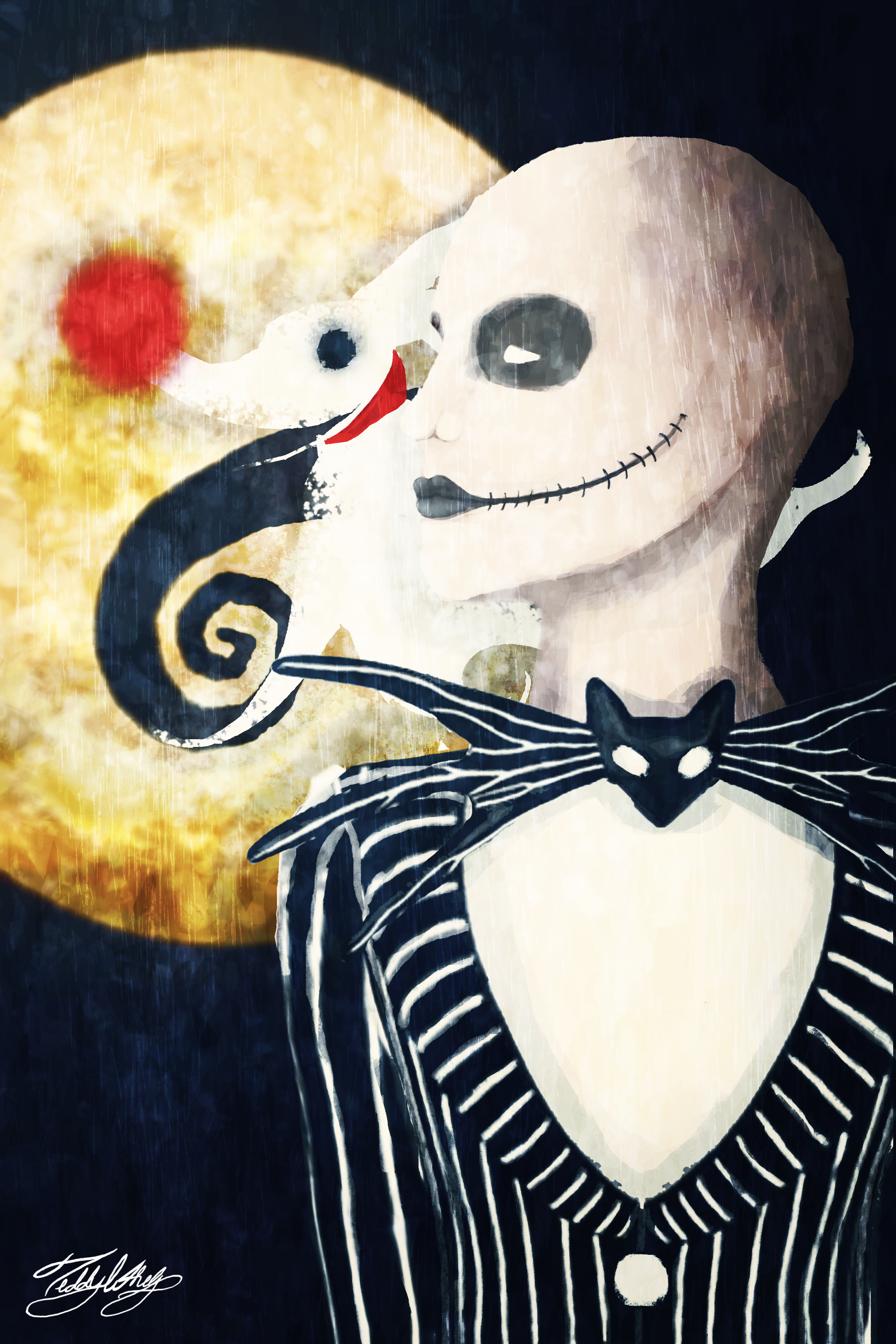 Jack and Zero - Nightmare before Christmas by TeddyWhelp on DeviantArt