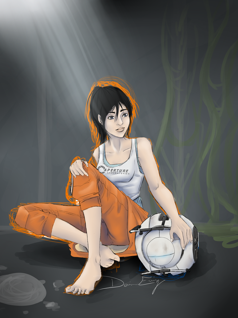 Portal 2: Chell And Wheatley 2012 WIP by MirageFlames on ...