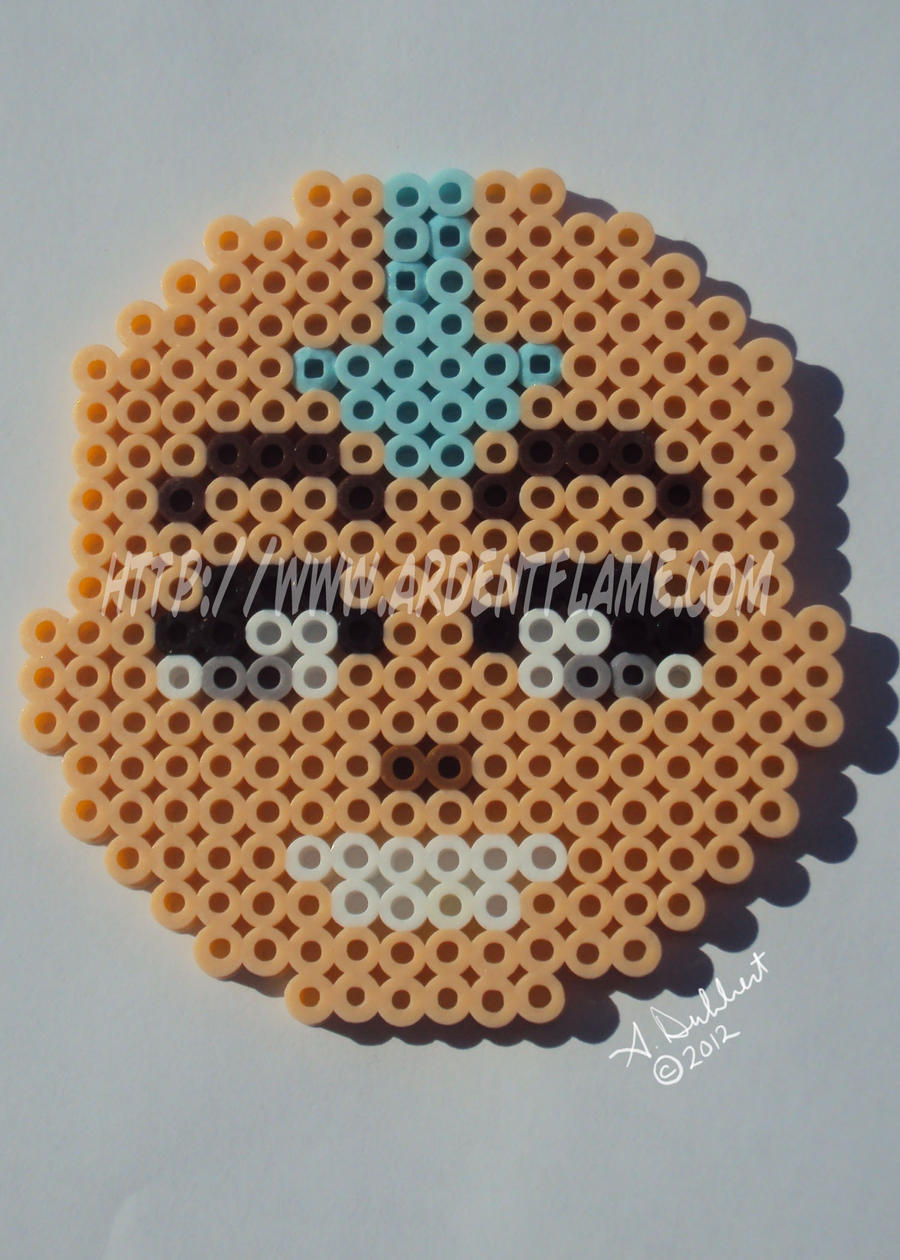 Fuse Beads Aang ATLA by Purplefire40