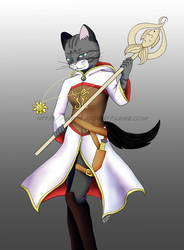 Cleric Kitty by Purplefire40