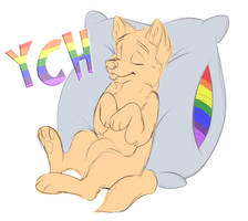 Puppy Pillow Flag - Pride Month YCH [OPEN 1/2] by Alantka