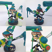 Splatoon Inkling Boy Custom Amiibo by Shadinski